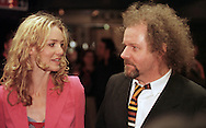 Director Mike Figgis (right) at the Cameo cinema in Edinburgh for the Scottish premiere of the film 'Miss Julie' with stars Peter Mullan and Saffron Burrows (left), part of the Edinburgh International Film Festival......
