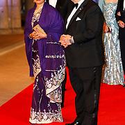 NLD/Amsterdam/20130429- Afscheidsdiner Konining Beatrix Rijksmuseum, prince El Hassan bin Talai and princess Sarvath El hassan of Jordan