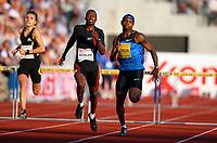 Friidrett , 6. juni 2008 , Golden League , Bislett Games<br /> Bershaw Jackson , USA  og Danny McFarlane , JAM 400 m hk