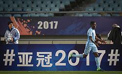 NANJING, April 25, 2017  Ramires (R) of China's Jiangsu FC celebrates after scoring during the AFC Champions League  Group H football match between China's Jiangsu FC and South Korea's Jeju United in Nanjing, capital of east China's Jiangsu Province, April 25, 2017. (Credit Image: © Xinhua via ZUMA Wire)