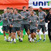 NLD/Katwijk/20110808 - Training Nederlands Elftal voor duel Engeland - Nederland, Dirk Kuyt, Klaas Jan Huntelaar, Kahlid Boularouz, Rafael van der VaartKevin Strootman, Wesley Sneijder, Hedwiges Maduro