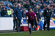 Coventry City Manager Mark Venus   during the The FA Cup match between Coventry City and Morecambe at the Ricoh Arena, Coventry, England on 15 November 2016. Photo by Simon Davies.