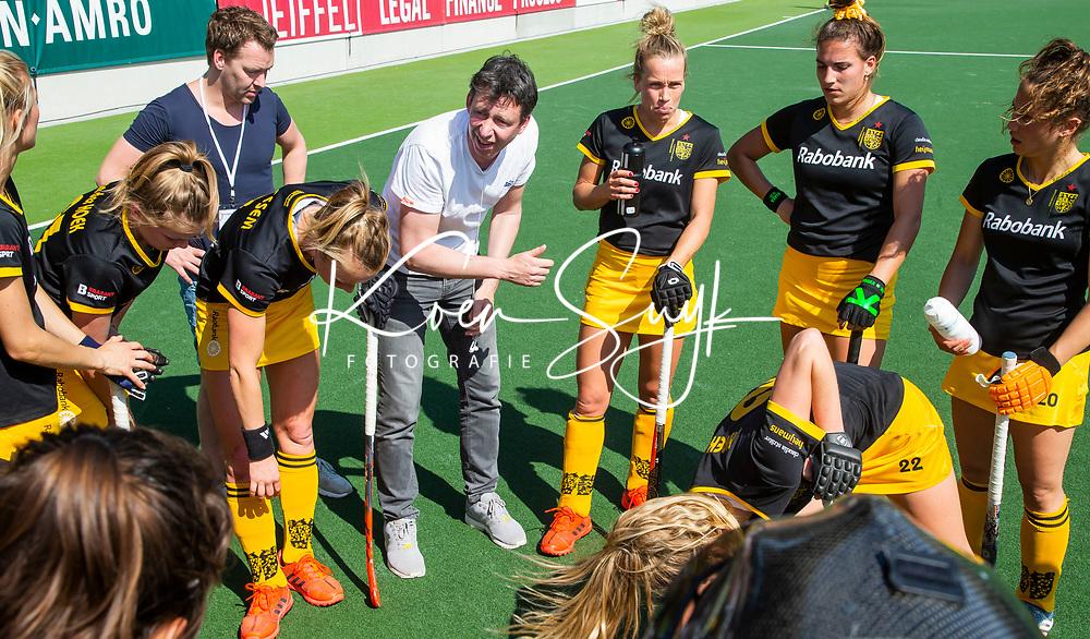 AMSTERDAM - EuroHockey Club Cup 2019 Women, during the match for 3rd place, HC Den Bosch (NED) -Der Club an der Alster (GER)   . coach Raoul Ehren (DBO)   COPYRIGHT  KOEN SUYK WORLDSPORTPICS