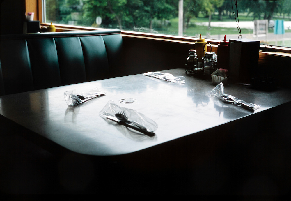 table and seating in a traditional local Mid Western dinner