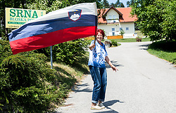 Fan during Stage 1 of 24th Tour of Slovenia 2017 / Tour de Slovenie from Koper to Kocevje (159,4 km) cycling race on June 15, 2017 in Slovenia. Photo by Vid Ponikvar / Sportida
