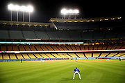 LOS ANGELES, CALIFORNIA - MARCH 29: A general view during the fourth inning between the Los Angeles Dodgers and the Los Angeles Angels at Dodger Stadium on March 29, 2021 in Los Angeles, California. (Photo by Katelyn Mulcahy/Getty Images)