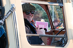 © Licensed to London News Pictures. 05/11/2017. London, UK. CHRIS EVANS takes part at the Hyde Park start of the annual Bonhams London To Brighton Veteran Car Run. Photo credit: Ray Tang/LNP