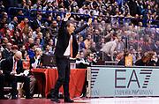 DESCRIZIONE : Milano Eurolega Euroleague 2013-14 EA7 Emporio Armani Milano Olympiacos Piraeus<br /> GIOCATORE : Coach Luca Banchi<br /> CATEGORIA : Fair Play Esultanza<br /> SQUADRA : Olympiacos Piraeus<br /> EVENTO : Eurolega Euroleague 2013-2014<br /> GARA : EA7 Emporio Armani Milano Olympiacos Piraeus<br /> DATA : 09/01/2014<br /> SPORT : Pallacanestro <br /> AUTORE : Agenzia Ciamillo-Castoria / A. Giberti<br /> Galleria : Eurolega Euroleague 2013-2014  <br /> Fotonotizia : Milano Eurolega Euroleague 2013-14 EA7 Emporio Armani Milano Olympiacos Piraeus<br /> Predefinita :