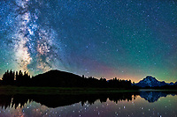 Made from 8 light frames (captured with a SONY camera) by Starry Landscape Stacker 1.6.1.  Algorithm: Median