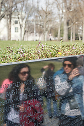 The Vietnam Veterans Memorial in Washington DC in the United States. From a series of travel photos in the United States. Photo date: Thursday, March 29, 2018. Photo credit should read: Richard Gray/EMPICS
