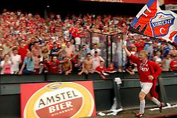01-06-2003 NED: Amstelcup finale FC Utrecht - Feyenoord, Rotterdam<br /> FC Utrecht pakt de beker door Feyenoord met 4-1 te verslaan / Dirk Kuyt