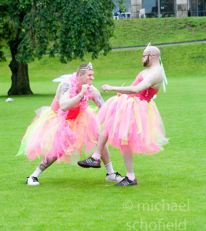Krav Maga at the Macmillan Cancer Support photocall at Princes Street gardens..©Pic : Michael Schofield.