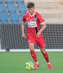 Frederik Juul Christensen (FC Helsingør) under træningskampen mellem FC Helsingør og Næstved Boldklub den 19. august 2020 på Helsingør Stadion (Foto: Claus Birch).