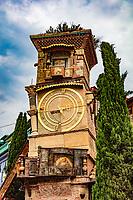 The Leaning Clock Tower  landmark of Tbilisi Georgia capital city eastern Europe