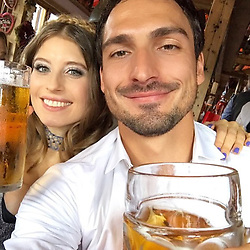 """Cathy Fischer releases a photo on Instagram with the following caption: """"Prost \ud83c\udf7a\ud83c\udf7a - ist das wirklich Bier? Ne sieht nur so aus \ud83d\ude2c. Prost @aussenrist15 @fcbayern \ud83d\ude0d\u2764\ufe0f\ud83d\udc95\ud83d\udc1d"""". Photo Credit: Instagram *** No USA Distribution *** For Editorial Use Only *** Not to be Published in Books or Photo Books ***  Please note: Fees charged by the agency are for the agency's services only, and do not, nor are they intended to, convey to the user any ownership of Copyright or License in the material. The agency does not claim any ownership including but not limited to Copyright or License in the attached material. By publishing this material you expressly agree to indemnify and to hold the agency and its directors, shareholders and employees harmless from any loss, claims, damages, demands, expenses (including legal fees), or any causes of action or allegation against the agency arising out of or connected in any way with publication of the material."""