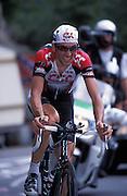 Ivan Basso on Alpe d'huez.