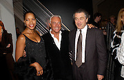 Grace Hightower De Niro , Giorgio Armani and Robert de Niro, Giorgio Armani, ' A retrospective' sponsored by Mercedes, Royal Academy, 14 October 2003. © Copyright Photograph by Dafydd Jones 66 Stockwell Park Rd. London SW9 0DA Tel 020 7733 0108 www.dafjones.com