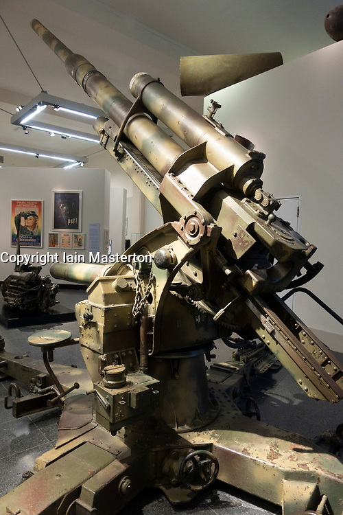 Anti Aircraft canon 8.8cm model 37 at Berlin History Museum, Germany