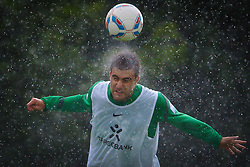 22.07.2011, Oeschberghof, Donaueschingen, Trainingslager 2011 GER, 1.FBL, Werder Bremen Trainingslager Donaueschingen 2011, im Bild Sokratis Papastathopoulos (Bremen #22) Kopfball im dauerregen..// during the trainings session from GER, 1.FBL, Werder Bremen Trainingslager Donaueschingen 2011 on 2011/07/22,  Oeschberghof, Donaueschingen, Germany..EXPA Pictures © 2011, PhotoCredit: EXPA/ nph/  Kokenge       ****** out of GER / CRO  / BEL ******
