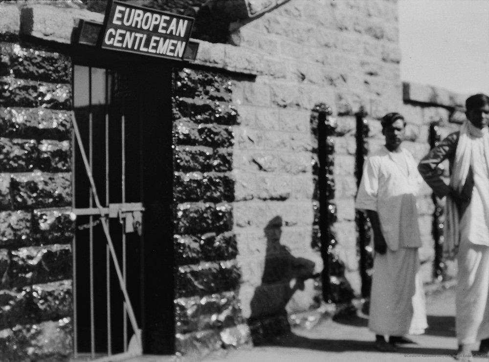 """European Gentlemen"" Sign, Pondicherry, India, 1929"