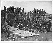 """""""C"""" Company of the Forty-first New York after the Second Battle of Bull Run, August 30, 1862. from the book ' The Civil war through the camera ' hundreds of vivid photographs actually taken in Civil war times, sixteen reproductions in color of famous war paintings. The new text history by Henry W. Elson. A. complete illustrated history of the Civil war"""