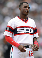 CHICAGO - AUGUST 28:  Tim Anderson #12 of the Chicago White Sox looks on against the Seattle Mariners on August  28, 2016 at U.S. Cellular Field in Chicago, Illinois.  The White Sox defeated the Mariners 4-1.  (Photo by Ron Vesely/MLB Photos via Getty Images)  *** Local Caption *** Tim Anderson