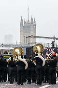 The London New Years Day Parade on the 1st January 2020 in London in the United Kingdom. The London New Years Day Parade is an annual parade through the streets of the West End of London on 1st January. The parade first took place in 1987.
