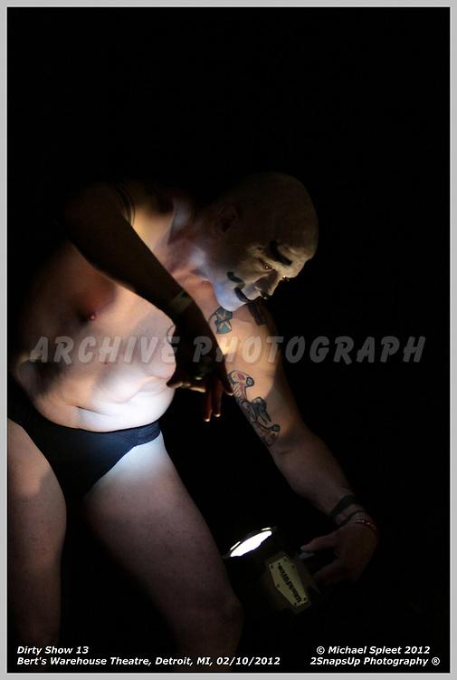 DETROIT, MI, FRIDAY, FEB. 10, 2012: Dirty Show 13, Satori Circus at Bert's Warehouse Theatre, Detroit, MI, 02/10/2012.  (Image Credit: Michael Spleet / 2SnapsUp Photography)