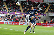 Son Heung-Min of Tottenham Hotspur in action. The Emirates FA Cup, quarter-final match, Swansea city v Tottenham Hotspur at the Liberty Stadium in Swansea, South Wales on Saturday 17th March 2018.<br /> pic by  Andrew Orchard, Andrew Orchard sports photography.