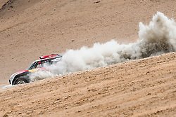 Stephane Peterhansel (FRA) of X-raid MINI JCW Team races during stage 04 of Rally Dakar 2019 from Arequipa to o Tacna, Peru on January 10, 2019 // Marcelo Maragni/Red Bull Content Pool // AP-1Y39E8W851W11 // Usage for editorial use only // Please go to www.redbullcontentpool.com for further information. //