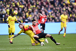 January 13, 2019 - Nantes, France - RAMY BENSEBAINI of Rennes in action against Nantes during French Ligue 1 action. (Credit Image: © Panoramic via ZUMA Press)