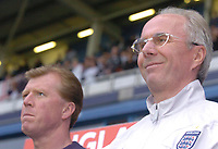 Photo: Leigh Quinnell.<br />England 'B' v Belarus. International Friendly. 25/05/2006.<br />England's manager Sven Goran Eriksson (R) with assistant Steve McClaren.