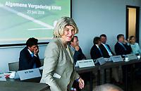 BREDA -  ALV KNHB.  Bondsbestuurder Madeleine Bakker is jarig.   COPYRIGHT  KOEN SUYK