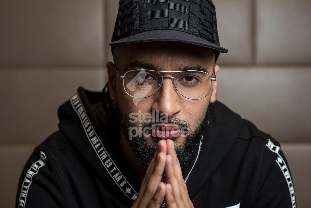 Mustafa Rahimtulla, one quarter of X Factor 2017 winners, Rak Su<br /> Picture by Daniel Hambury/Stella Pictures Ltd 07813022858<br /> 05/12/2017