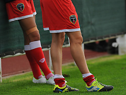 Bristol Academy Womens' embroiderd shorts. - Photo mandatory by-line: Nizaam Jones- Mobile: 07583 387221 - 28/09/2014 - SPORT - Women's Football - Bristol - SGS Wise Campus - BAWFC v Man City Ladies - sport