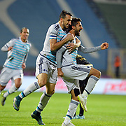 Fenerbahce's players during their Turkish Super League soccer match Osmanlispor between Fenerbahce at the Osmanli Stadium in Ankara Turkey on Thursday 29 October 2015. Photo by TVPN/TURKPIX
