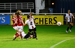 Jemma Purfield of Bristol City Women scores a goal - Mandatory by-line: Dougie Allward/JMP - 07/10/2020 - FOOTBALL - Twerton Park - Bath, England - Bristol City Women v London Bees - FA Continental Cup
