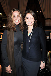 Left to right, STEPHANIE McCLELLAN and ROLA GORDON at a lecture in aid of The Lavender Trust hosted by Asprey, Bond Street, London on 27th January 2010.