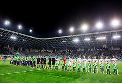 Players prior to the 1st Leg football match between NK Olimpija Ljubljana and NK Maribor in Semifinal of Slovenian Football Cup 2016/17, on April 5, 2017 in SRC Stozice, Ljubljana, Slovenia. Photo by Vid Ponikvar / Sportida