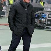 Liverpool's coach Brendan Rodgers during the UEFA Europa League Round of 32 second leg soccer match Besiktas between Liverpool at Ataturk Olimpiyat stadium in Istanbul Turkey on Thursday February 26, 2015. Photo by Aykut AKICI/TURKPIX