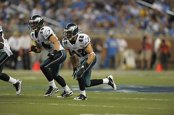 DETROIT - SEPTEMBER 19: Safety Kurt Coleman #42 of the Philadelphia Eagles runs during the game against the Detroit Lions on September 19, 2010 at Ford Field in Detroit, Michigan. (Photo by Drew Hallowell/Getty Images)  *** Local Caption *** Kurt Coleman