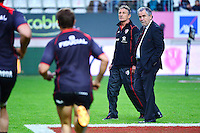 Guy NOVES / Rene BOUSCATEL - 24.04.2015 - Stade Francais / Stade Toulousain - 23eme journee de Top 14<br />