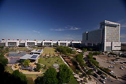 Stock photo of an aerial view of Discovery Green Park
