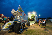 Dirt track racing at Salina High Banks speedway in Salina, OK