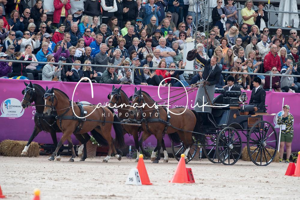 Voutaz Jérome, SUI, Belle du Peupe CH, Eva III CH, Flore CH, Folie des Moulins CH, Leon<br /> FEI European Driving Championships - Goteborg 2017 <br /> © Hippo Foto - Dirk Caremans