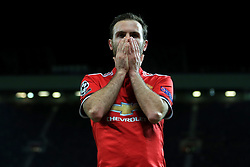5th December 2017 - UEFA Champions League - Group A - Manchester United v CSKA Moscow - Juan Mata of Man Utd looks dejected - Photo: Simon Stacpoole / Offside.