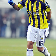 Fenerbahce's Cristian Oliveira BARONI during their Turkish Superleague Derby match Besiktas between Fenerbahce at the Inonu Stadium at Dolmabahce in Istanbul Turkey on Sunday, 20 February 2011. Photo by TURKPIX