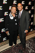New York, NY-October 5:  (L-R) U.S. Congresswoman Barbara Lee and James Rucker, Co-founder, Color of Change attends the ColorOfChange.org's 10th Anniversary Gala held at Gotham Hall on October 5, 2015 in New York City.  Terrence Jennings/terrencejennings.com