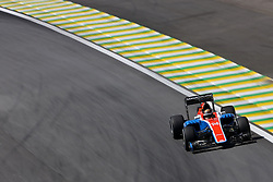 Pascal Wehrlein (GER) Manor Racing <br /> 11.11.2016. Formula 1 World Championship, Rd 20, Brazilian Grand Prix, Sao Paulo, Brazil, Practice Day.<br /> Copyright: Charniaux / XPB Images / action press