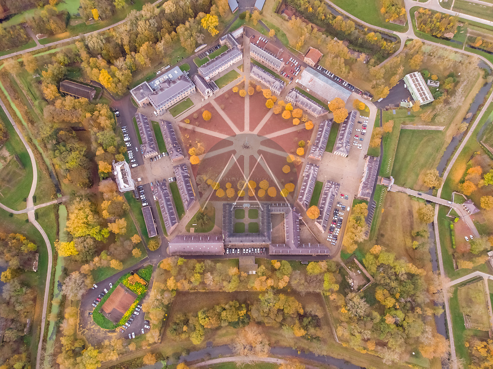 Aerial view of citadelle of Lille, France.